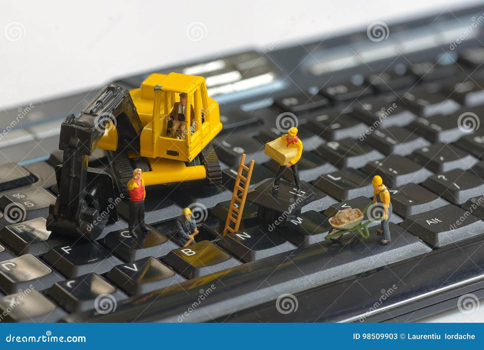 Naprawianie klawiaturowi pracownicy
