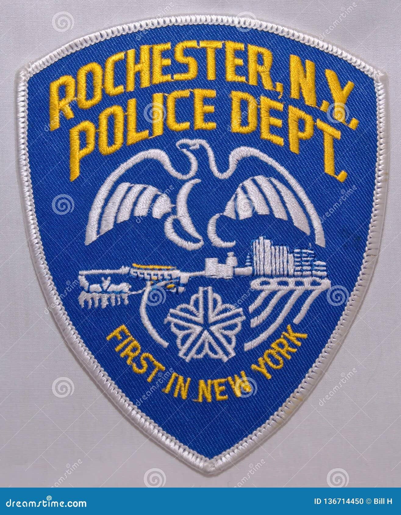 Naramienna łata Rochester departament policji w Nowy Jork