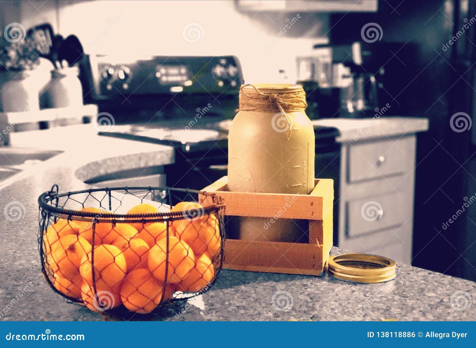 Naranjas y Mason Jar