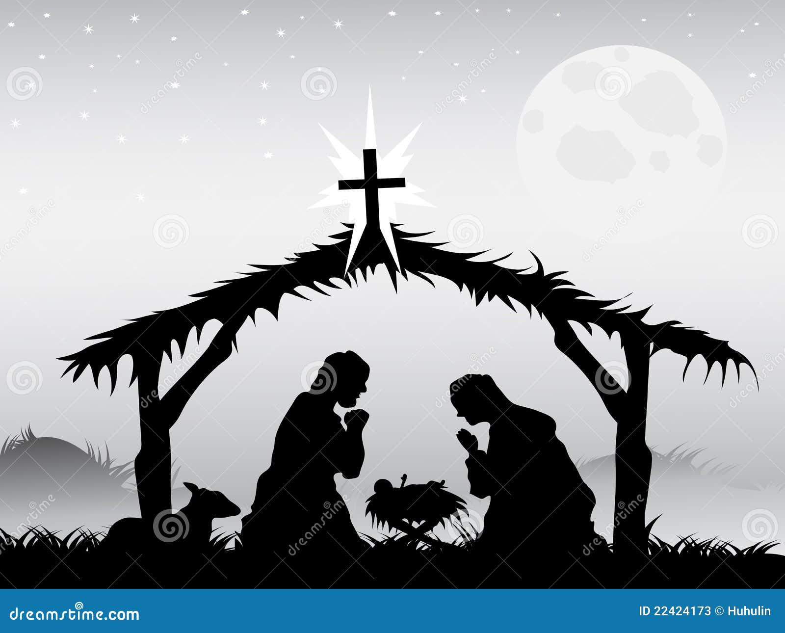 Narodzenia jezusa sceny wektor