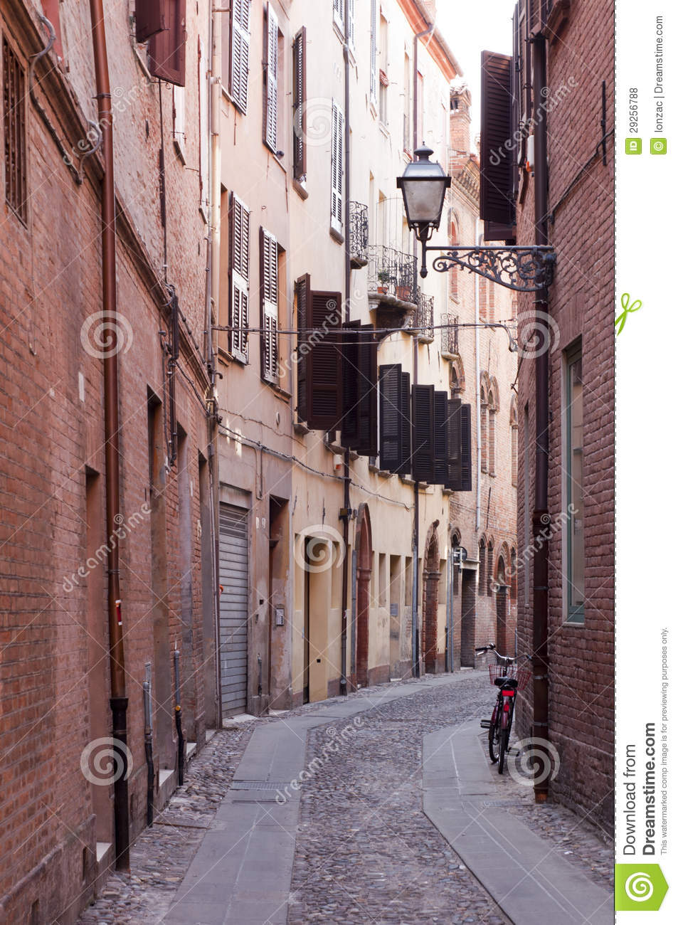 Stock Photo of Looking Down A Narrow Alleyway, Royalty-Free Images ...