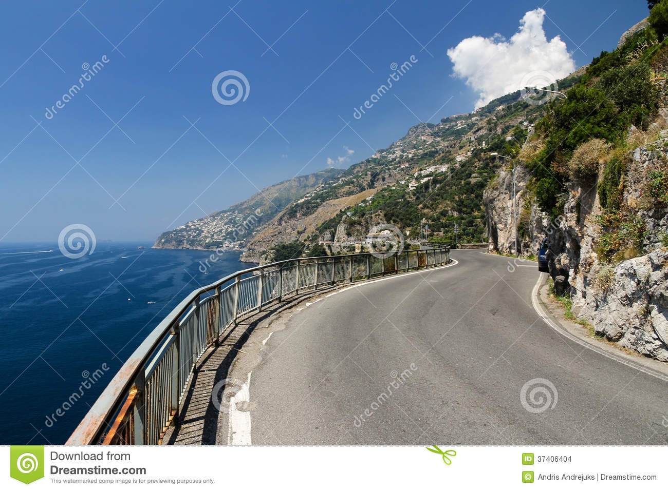 Stunning view over the picturesque Amalfi coast in Italy - crystal ...