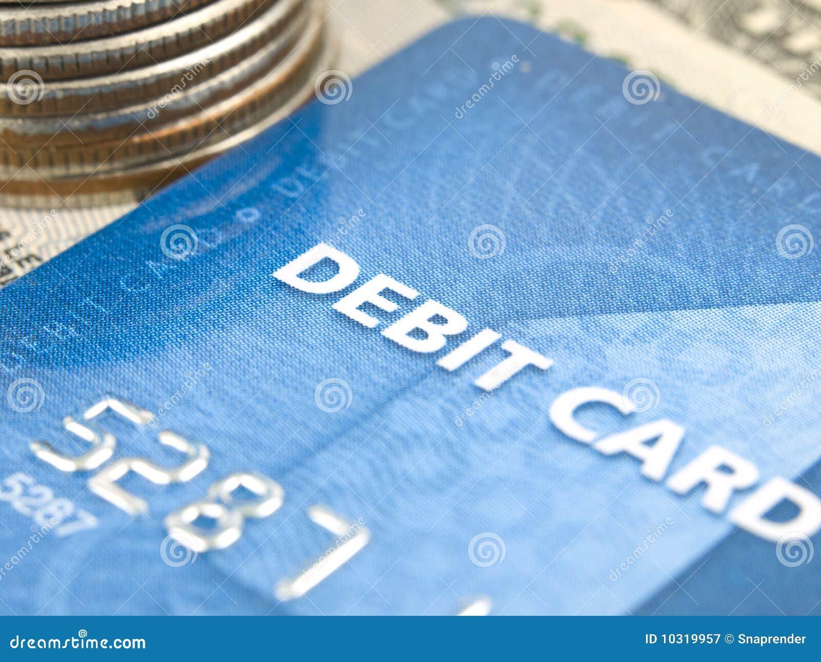 Narrow focus of debit card
