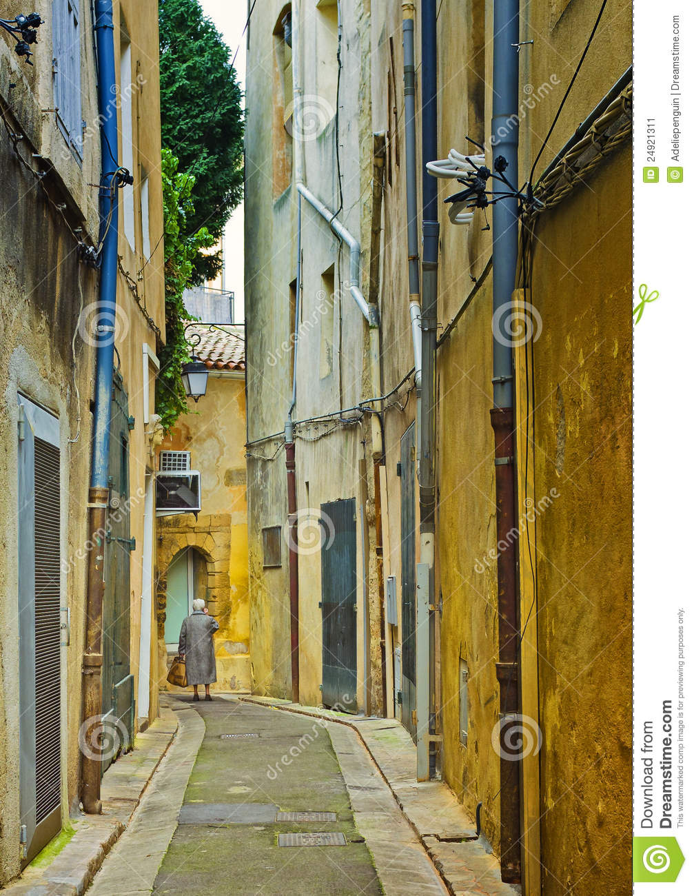 Narrow Street Aix en Provence France Editorial Photo