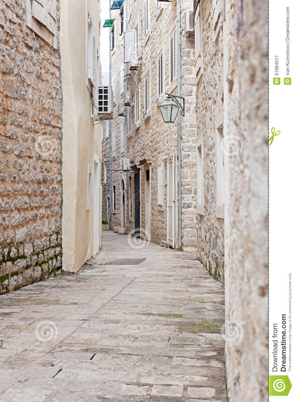 Narrow street of old stone city stock image image of ancient royalty free stock photo voltagebd Gallery