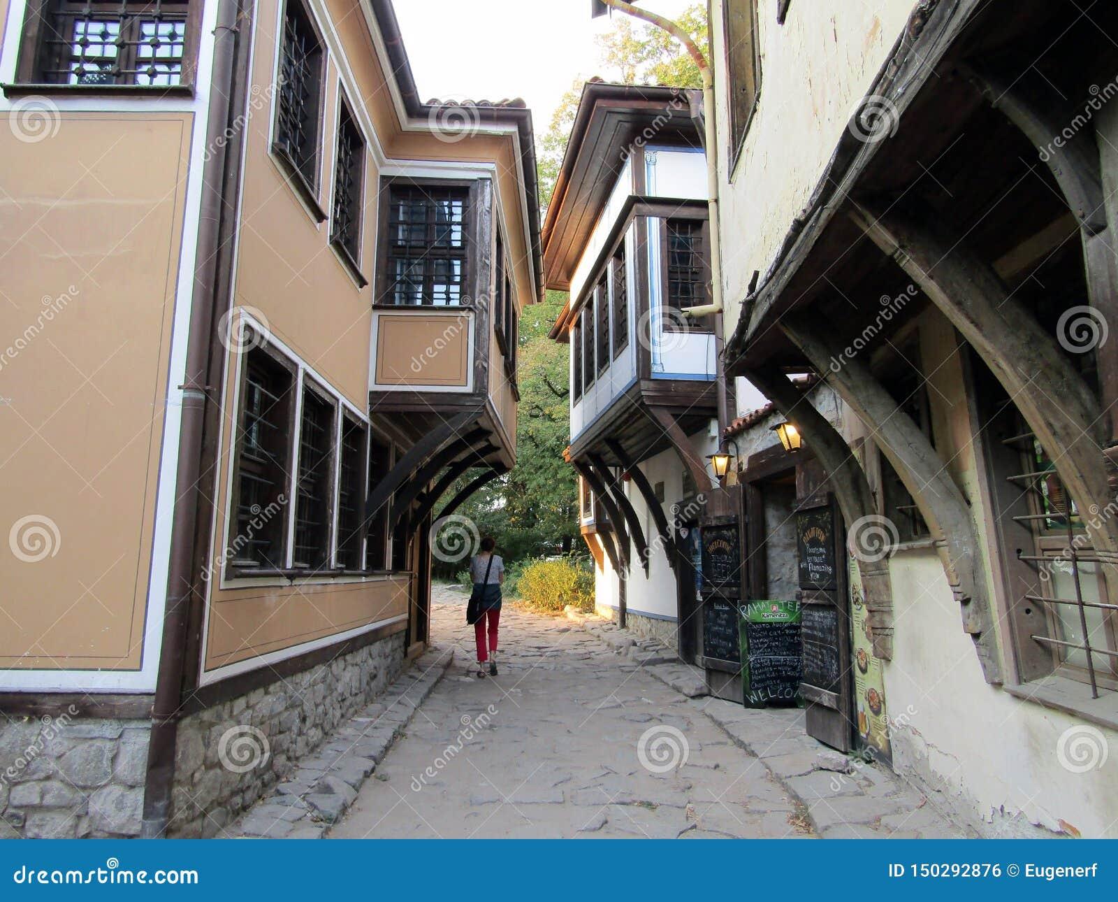 Old town narrow street