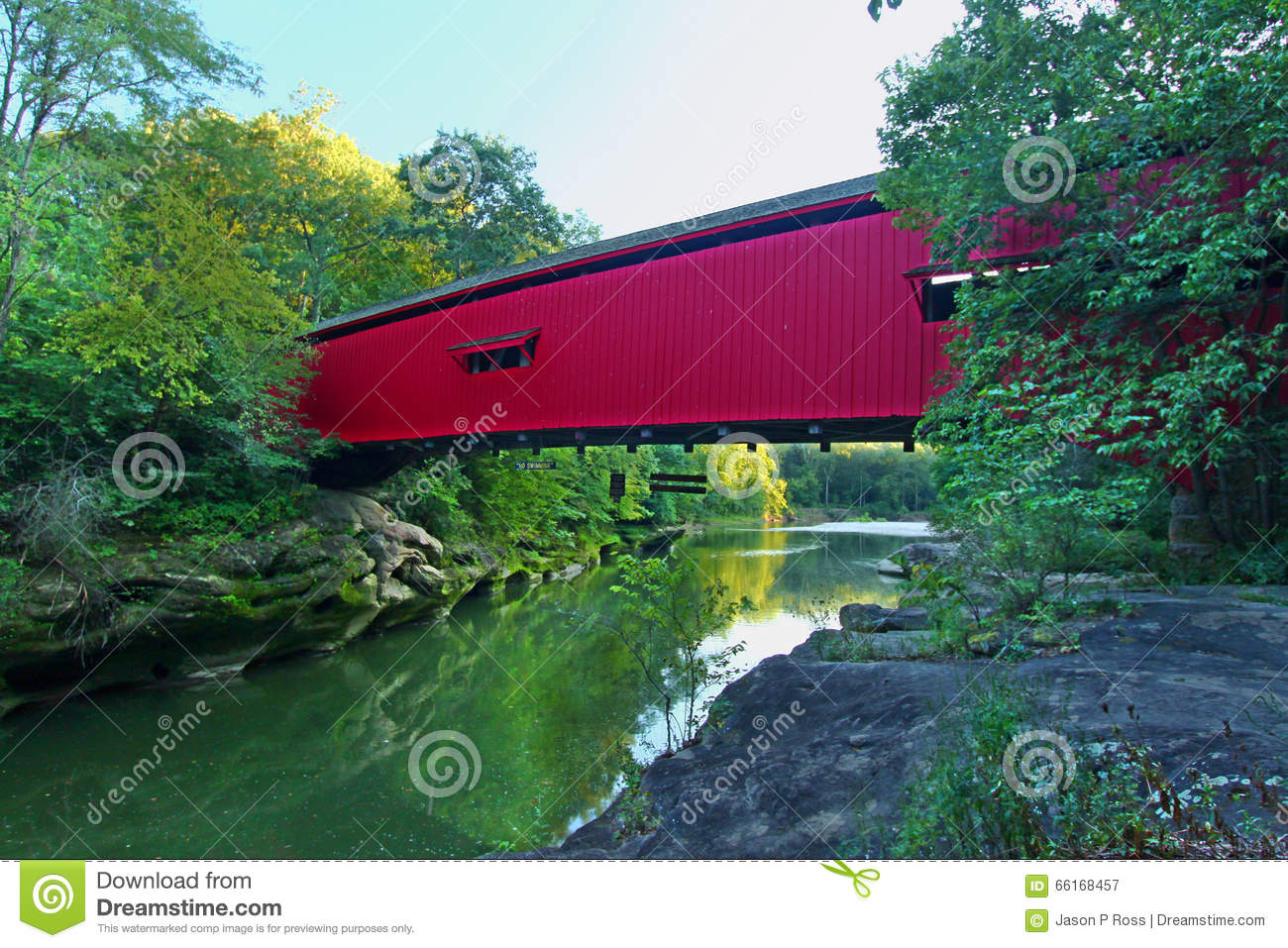 Narrows Covered Bridge Indiana