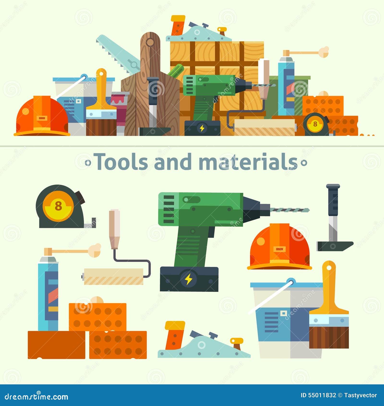 Narzędzia i materiały dla naprawy