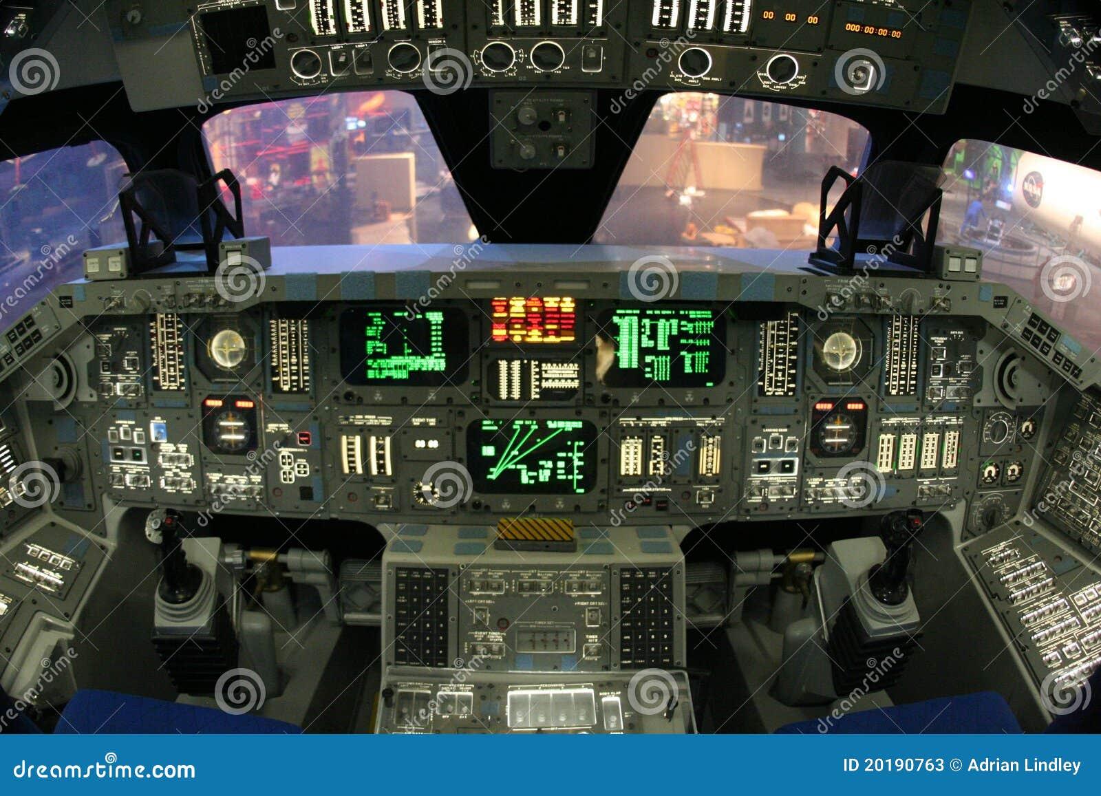 NASA Space Shuttle Cockpit Editorial Stock Photo - Image: 20190763
