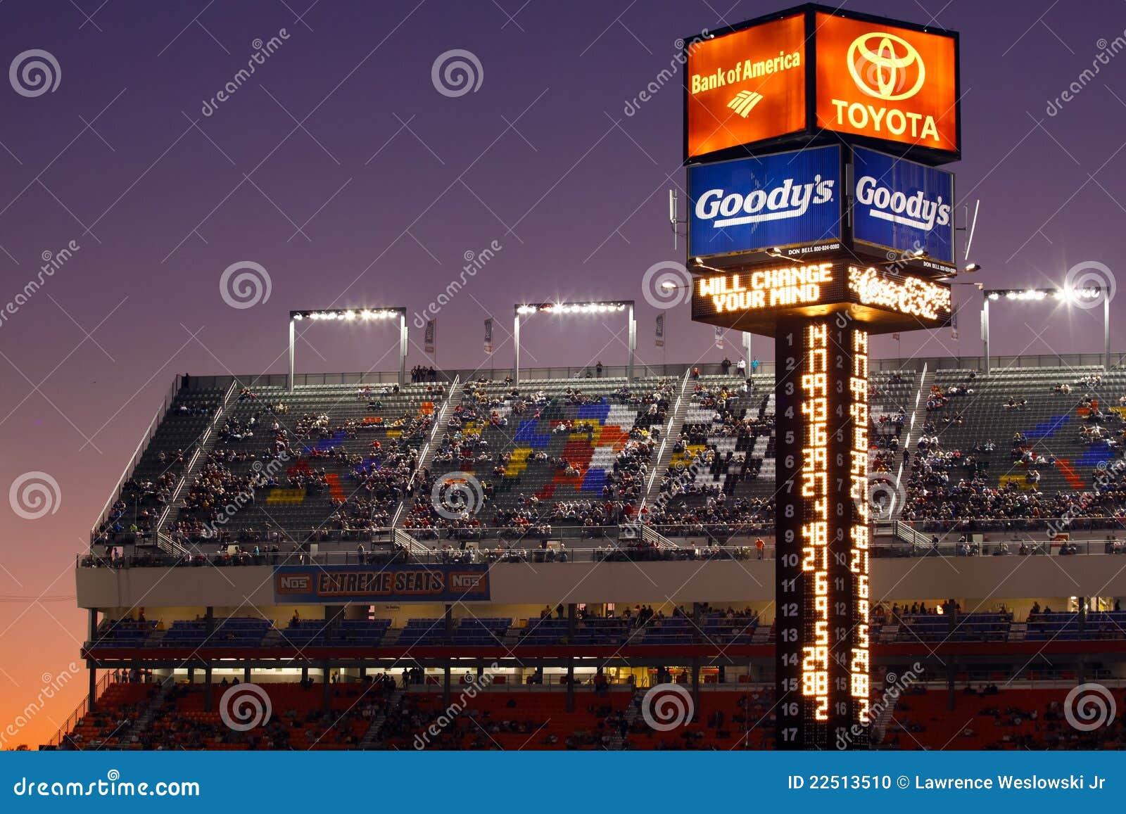 Nascar Charlotte Motor Speedway Scoring Tower Editorial