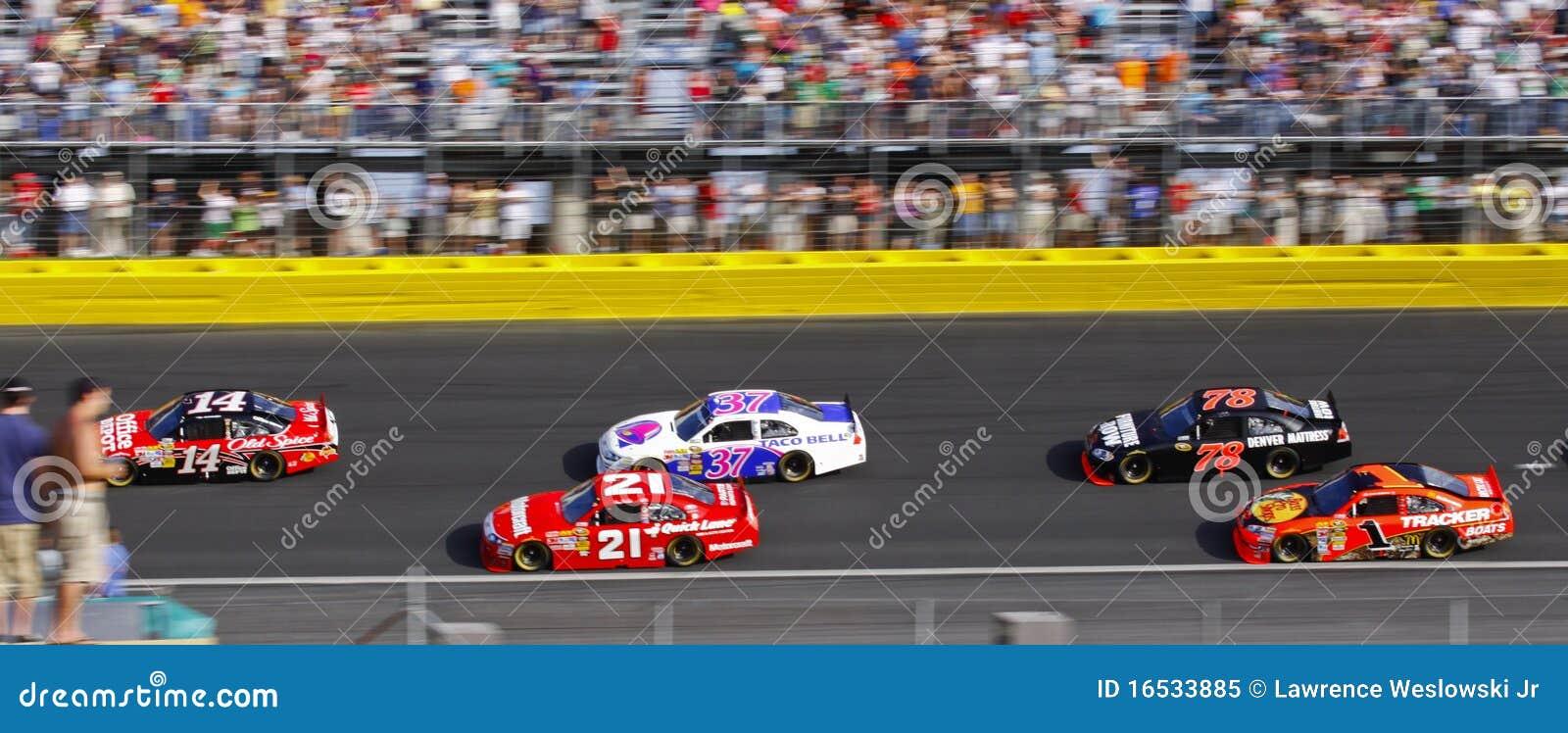 NASCAR - de Amerikaanse Autorennen van de Voorraad