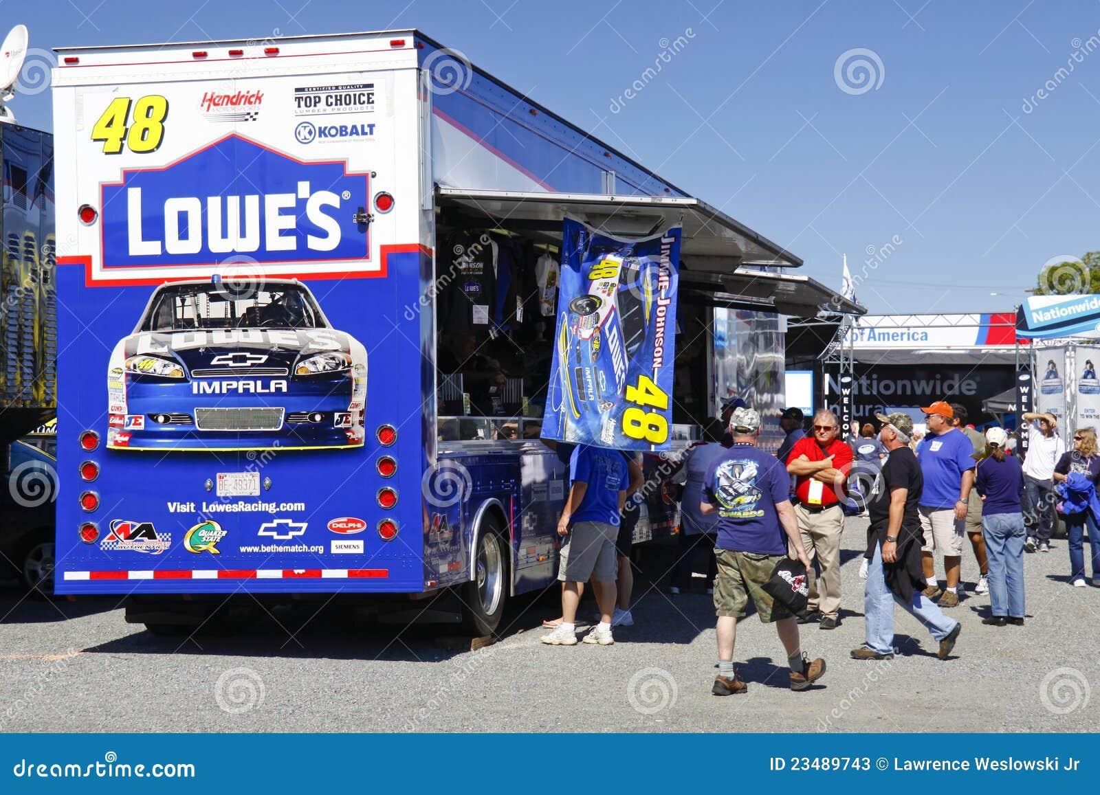NASCAR - Fans Shop At Johnson'sTrailer Editorial Stock ...