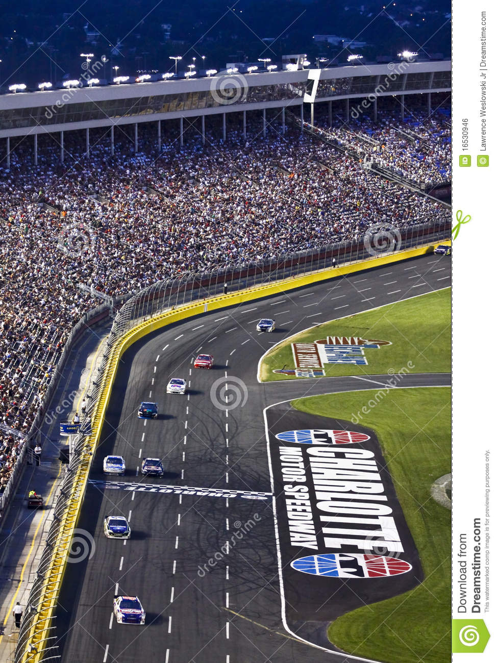NASCAR - Fans Watch at Charlotte Motor Speedway