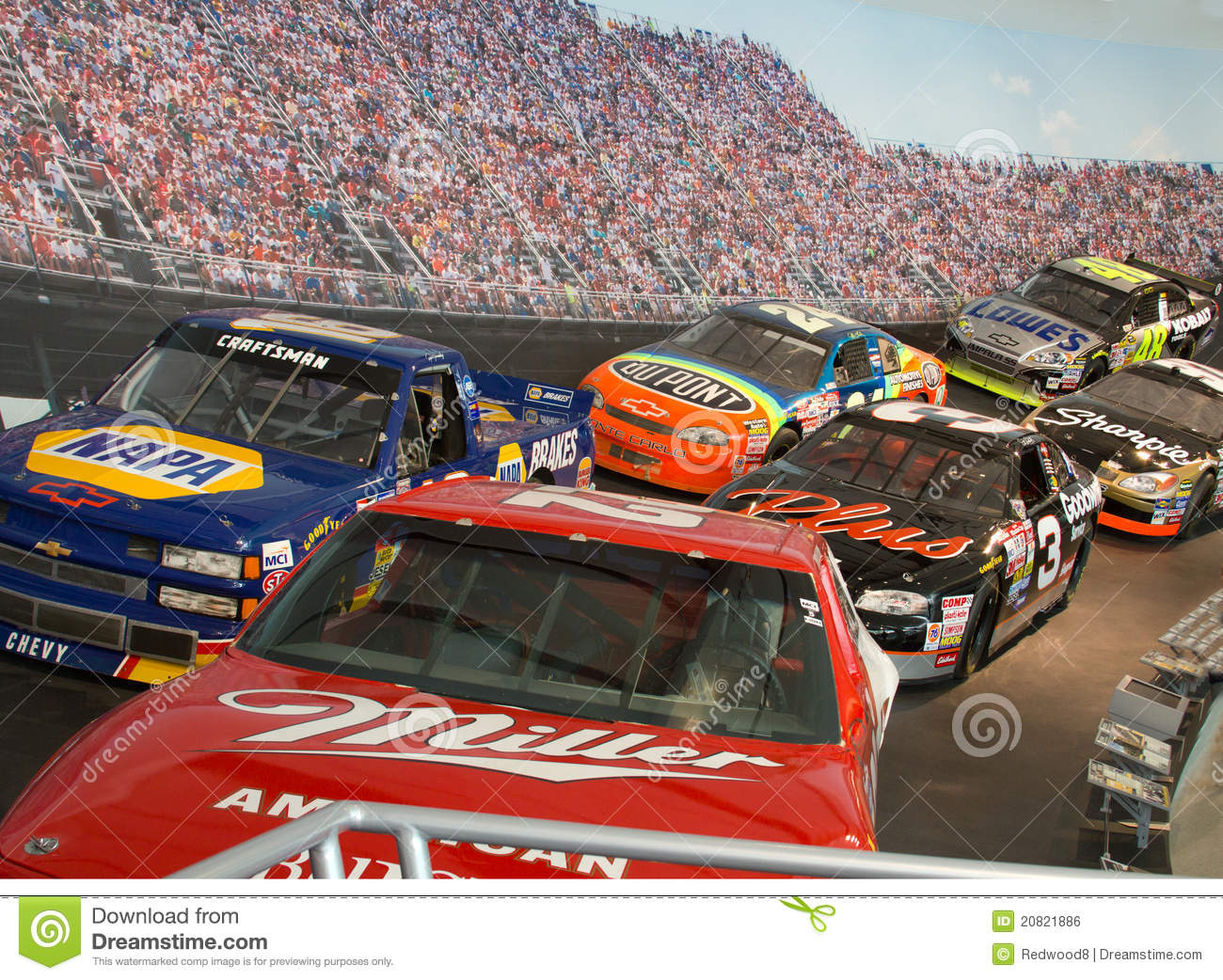 NASCAR Hall Of Fame Race Cars Editorial Photo - Image of museum ...