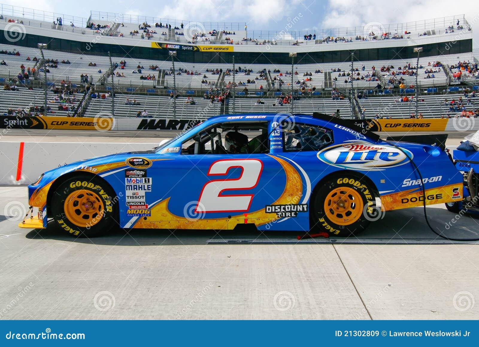 NASCAR - Kurt Busch's #2 Miller Lite Car Editorial Stock Image - Image: 21302809