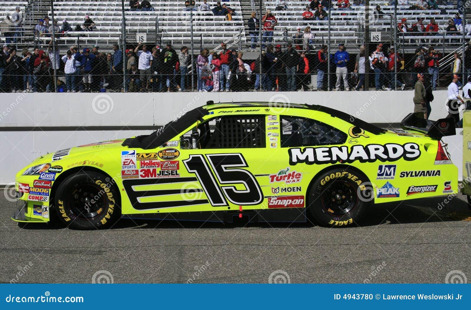 Race Car Number Designs >> NASCAR - Paul Menard's #15 COT Editorial Image - Image: 4943780