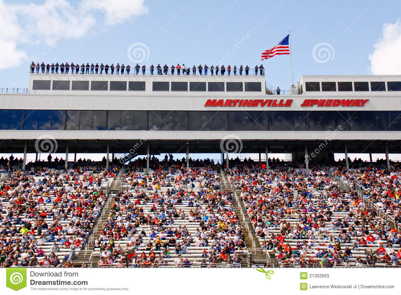 Nascar Spotters And Fans At Martinsville Speedwa
