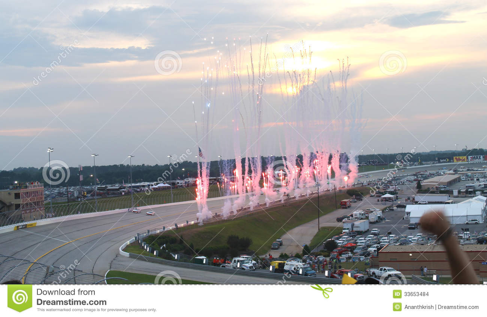 Nascar Sprint Cup Atlanta Motor Speedway Editorial Stock