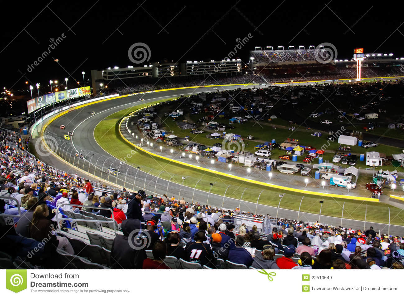 Nascar Turn 2 Charlotte Motor Speedway Editorial Stock