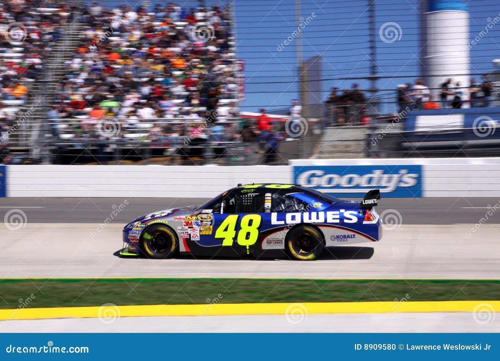NASCAR - vencedor 2009 do presente 500 Jimmie Johnson