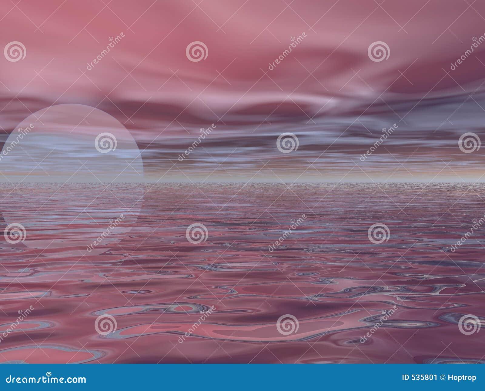 Nascer do sol cor-de-rosa