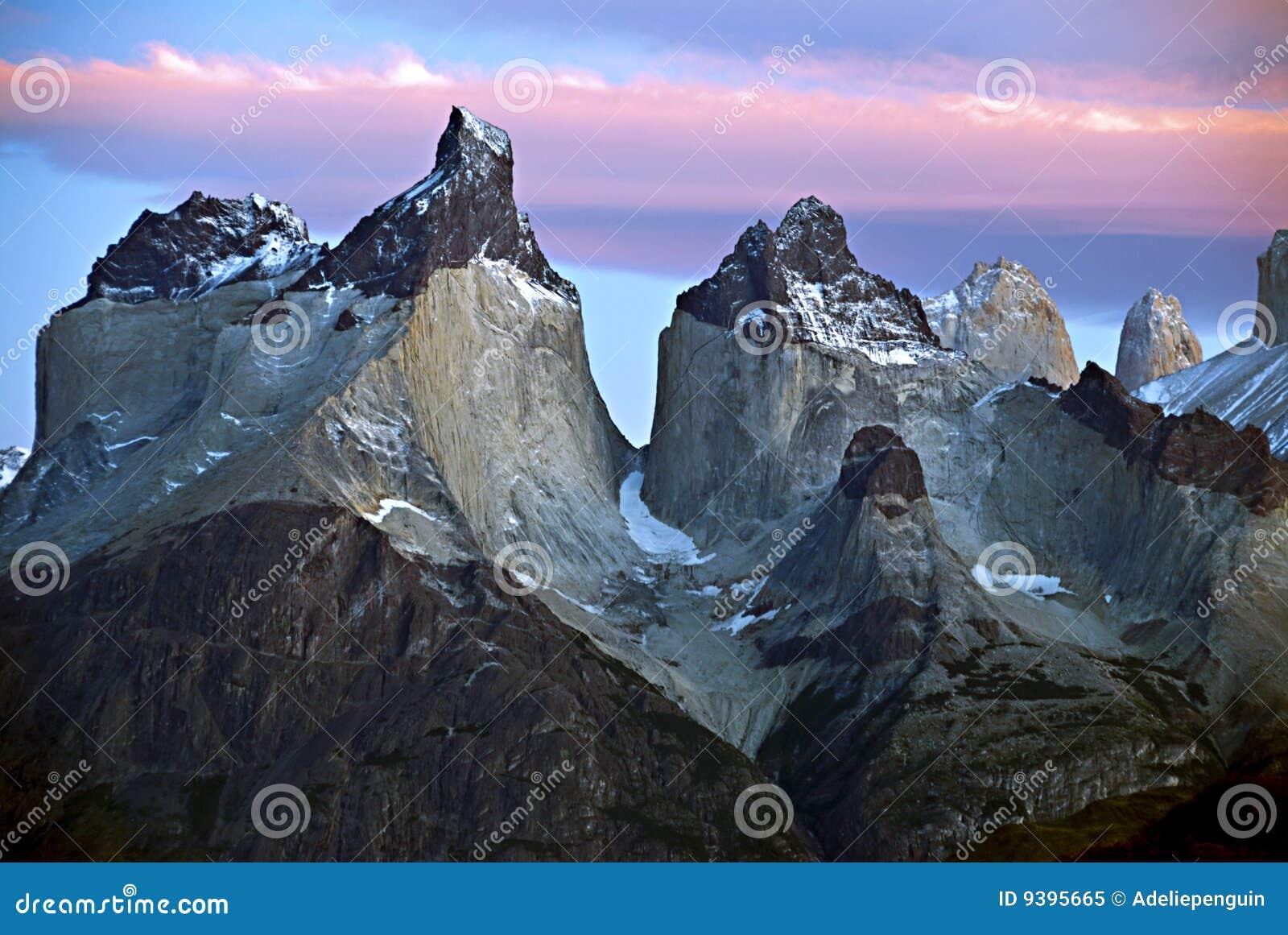Nascer do sol, Cuernos del Paine