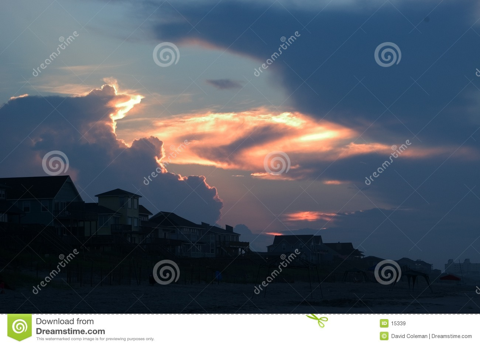 Nascer do sol da praia, Emerald Isle