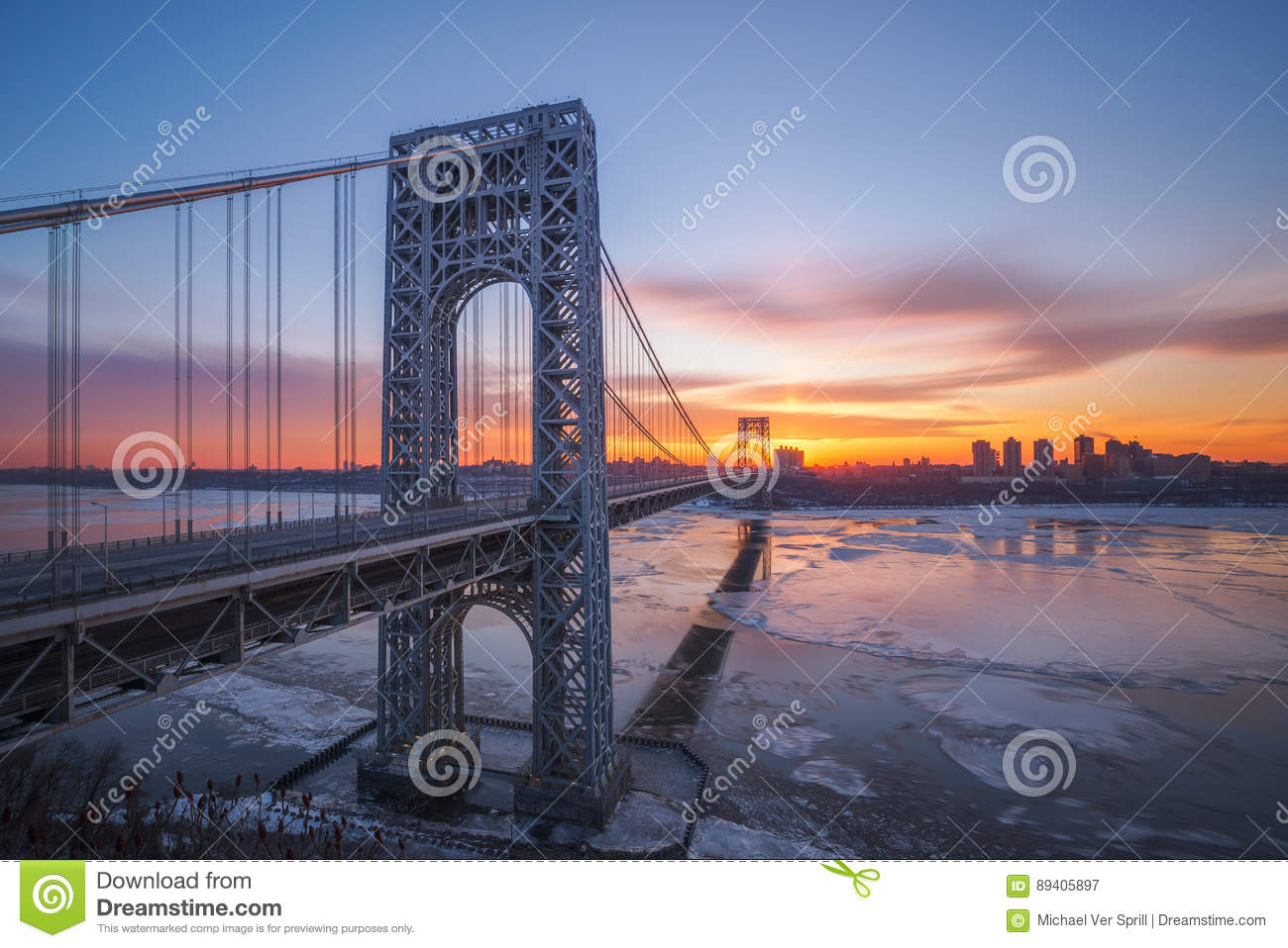Nascer do sol de George Washington Bridge