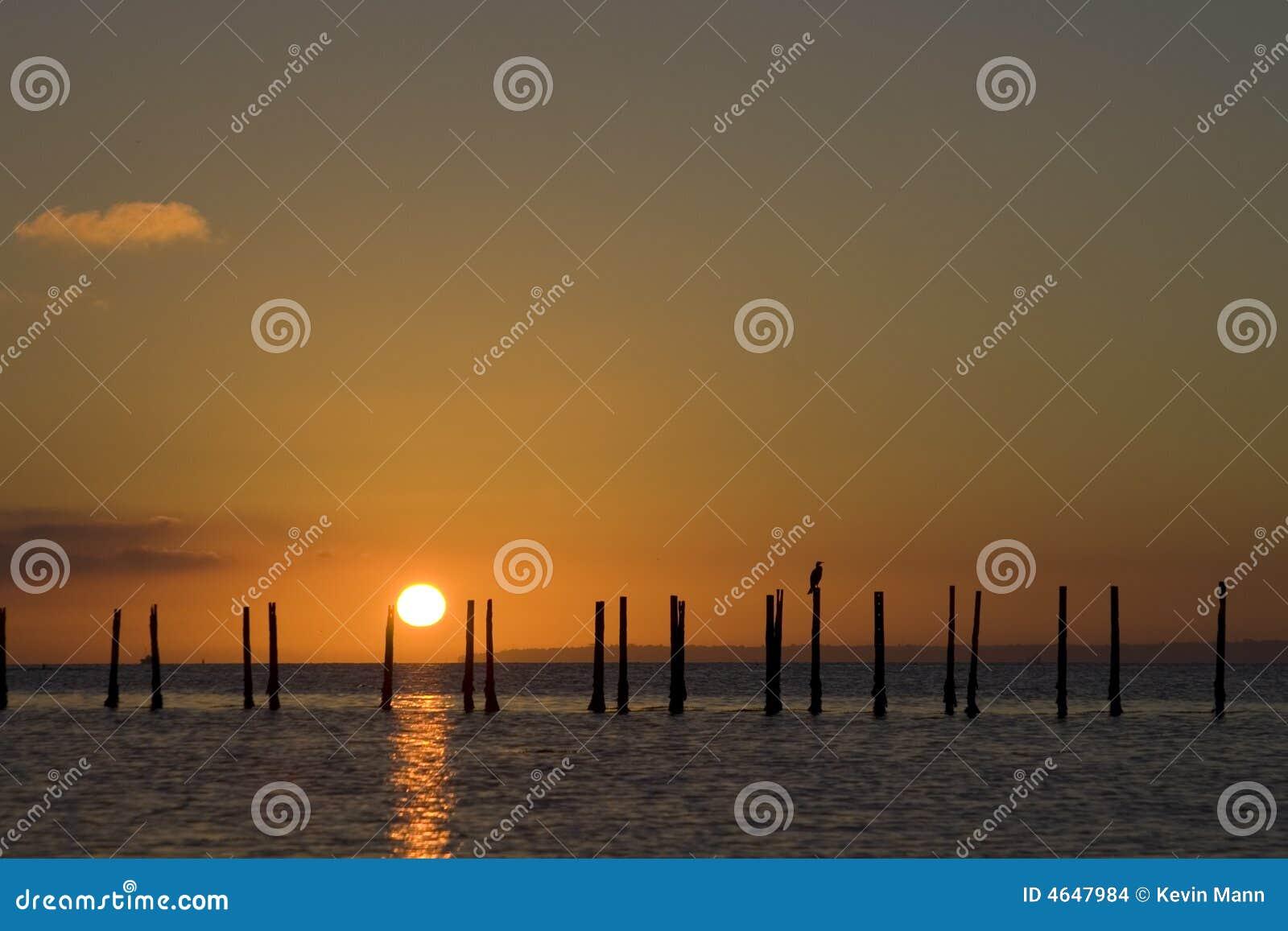Nascer do sol de Solent