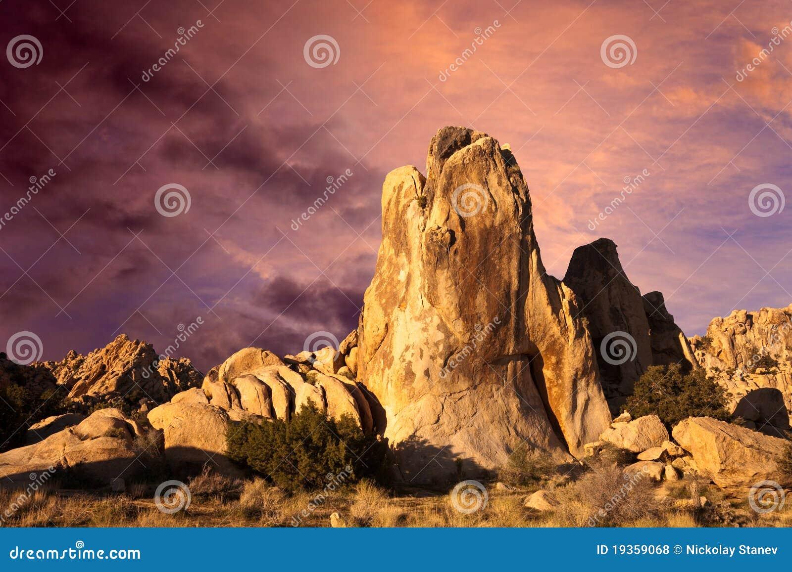 Nascer do sol do deserto