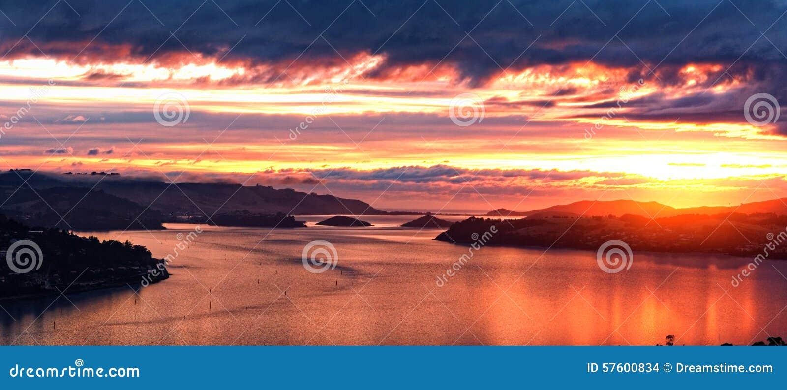Nascer do sol, Dunedin, Nova Zelândia