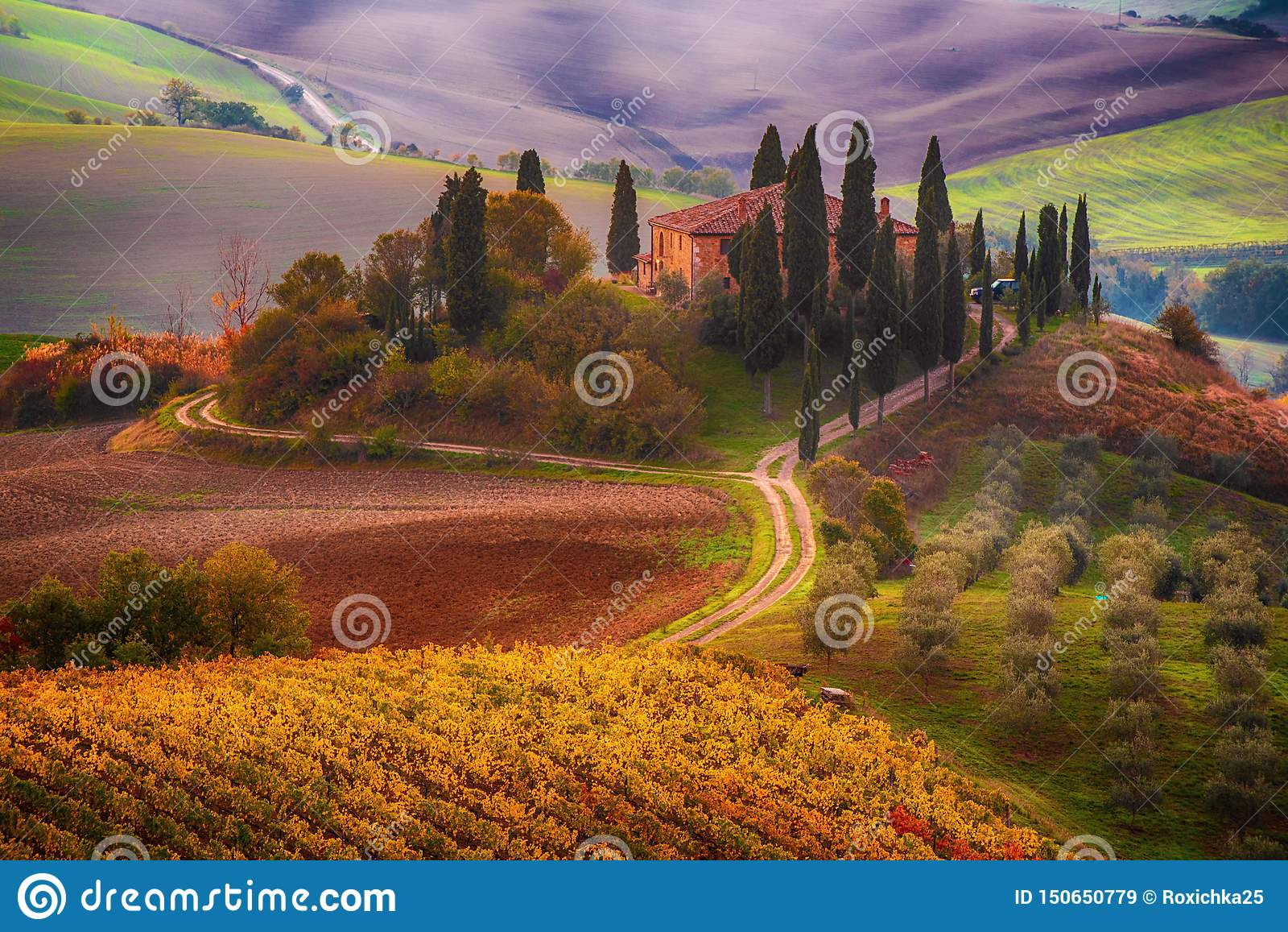 Nascer do sol em Italy