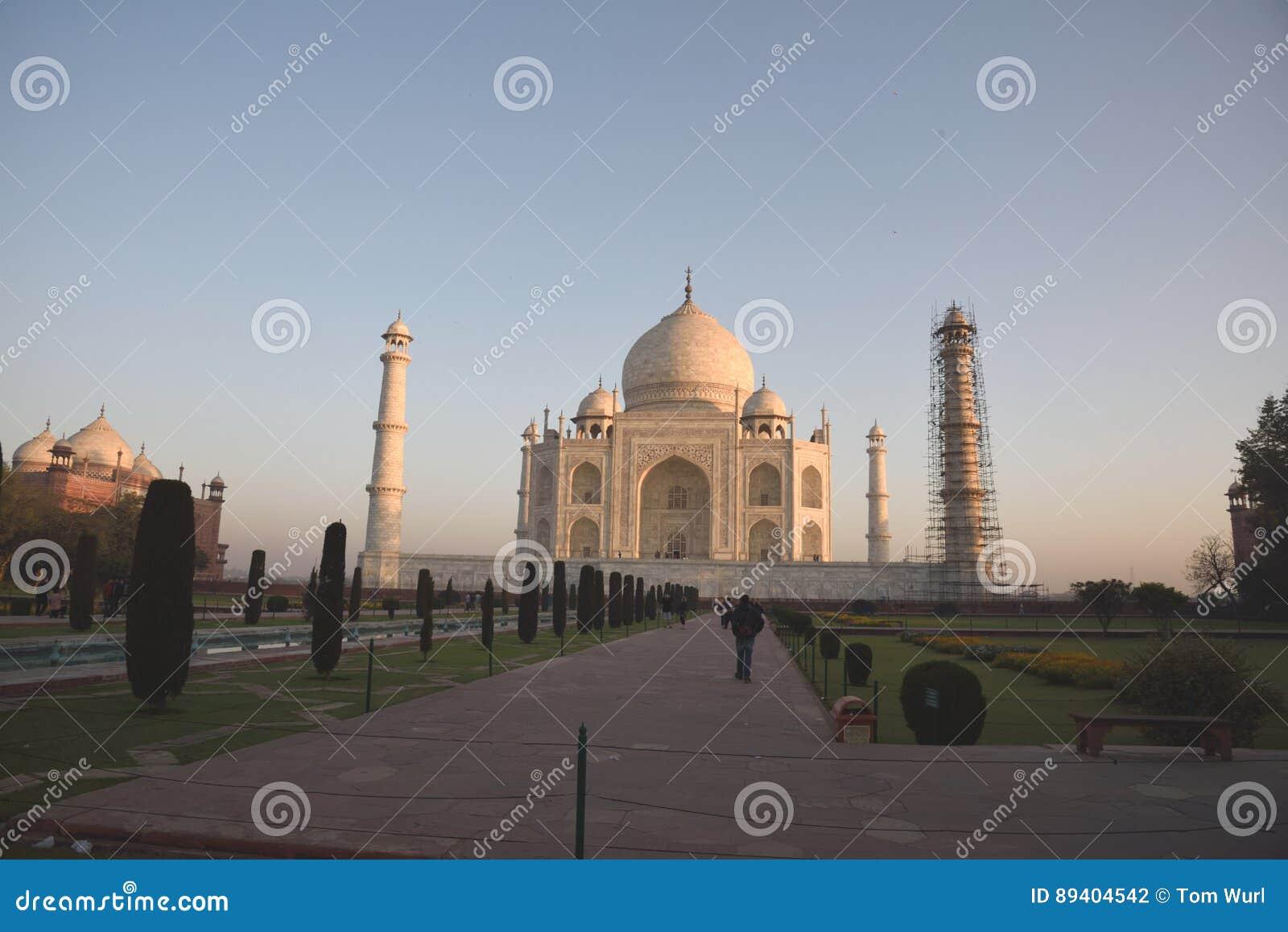 Nascer do sol em Taj Mahal, Agra, Índia