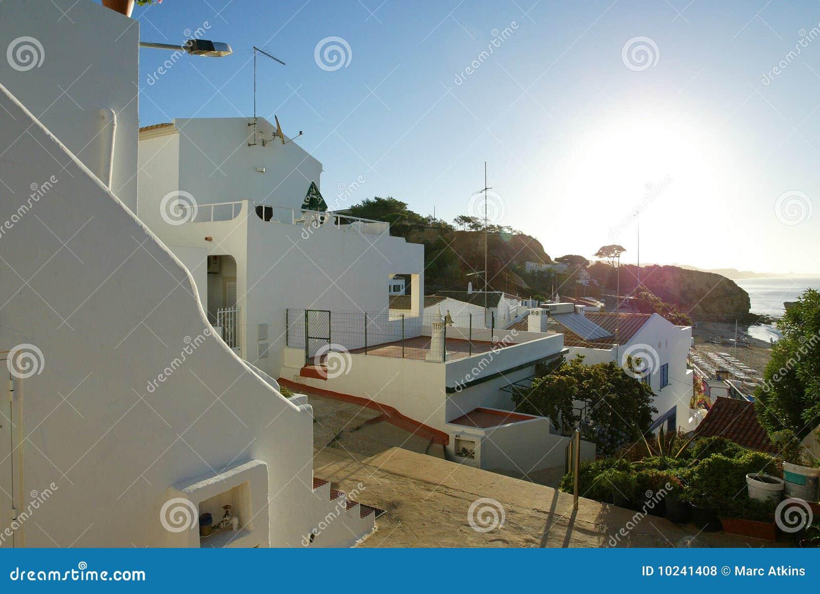 Nascer do sol Olhos D agua do Algarve, Algrave, Portugal