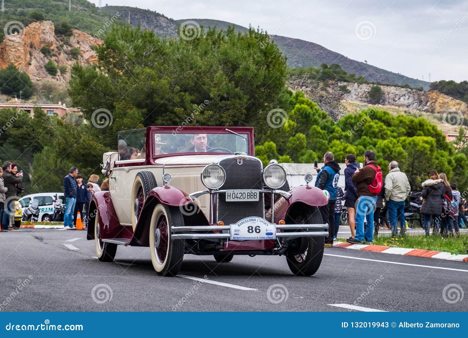 Nash, rallye internacional Barcelona - Sitges do carro do vintage da edição do Th 60