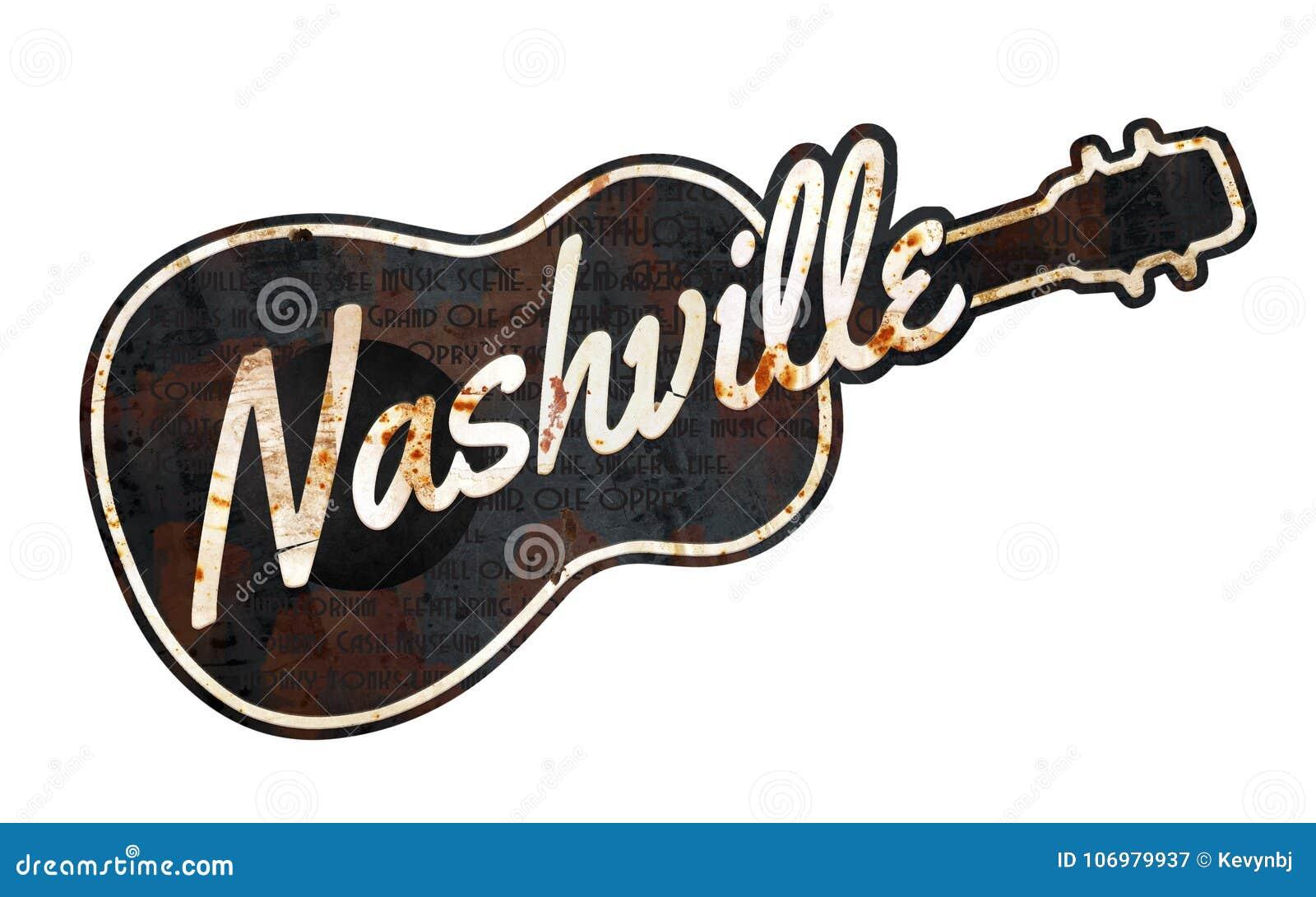 Nashville Sign Grunge