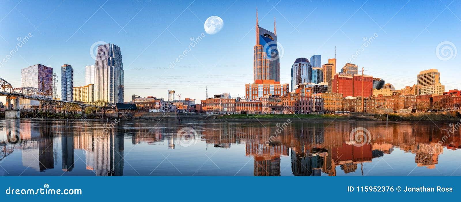 Nashville-Skyline morgens