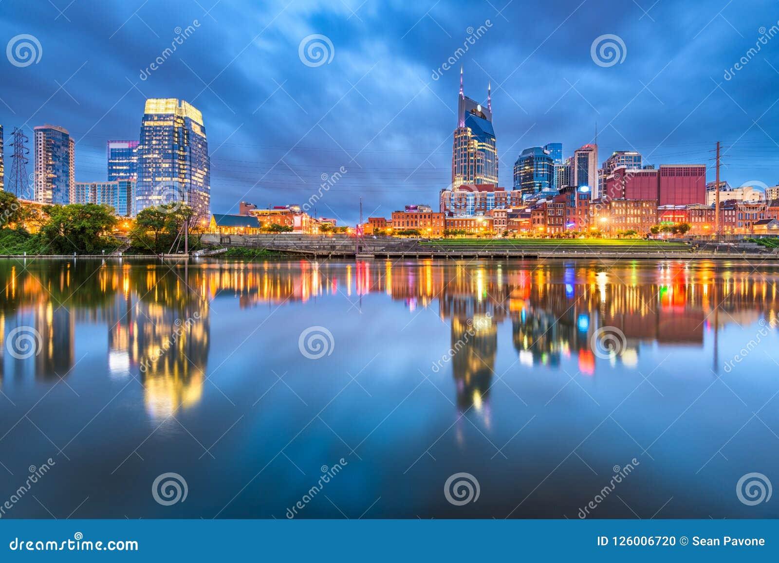 Nashville, Tennessee, paysage urbain du centre des Etats-Unis