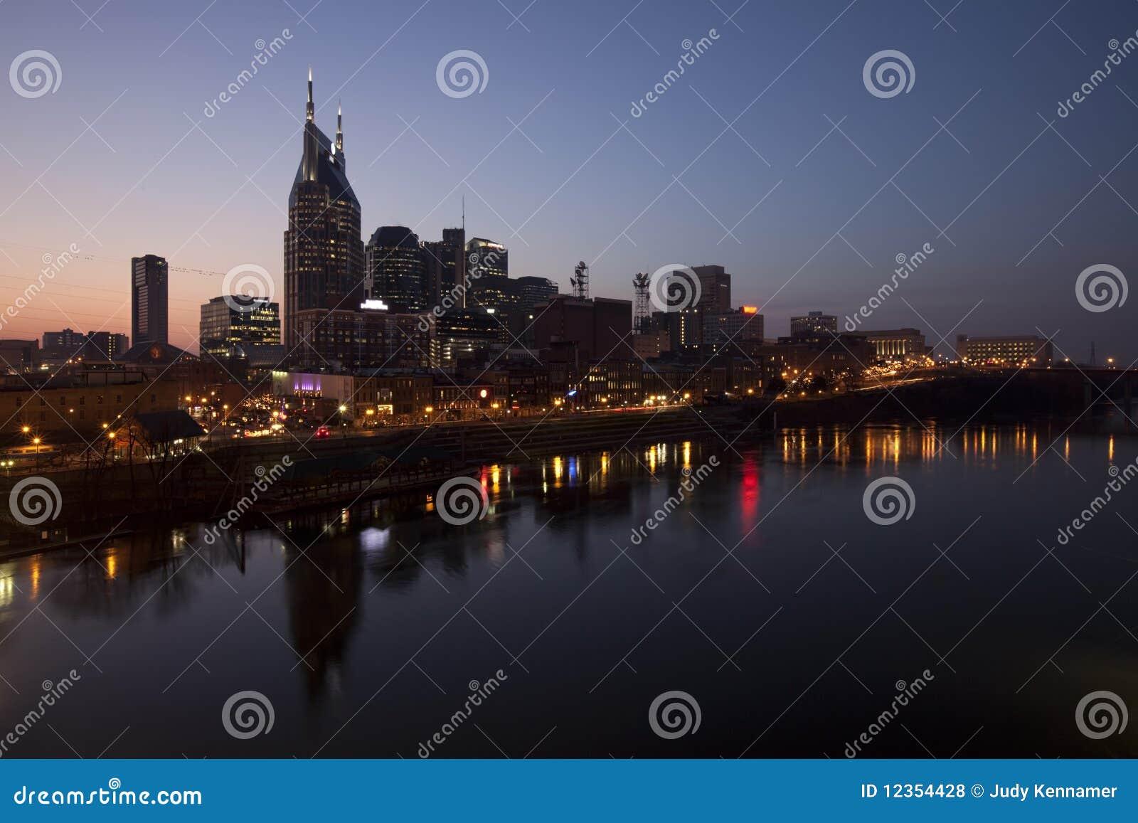 Nashville w centrum noc