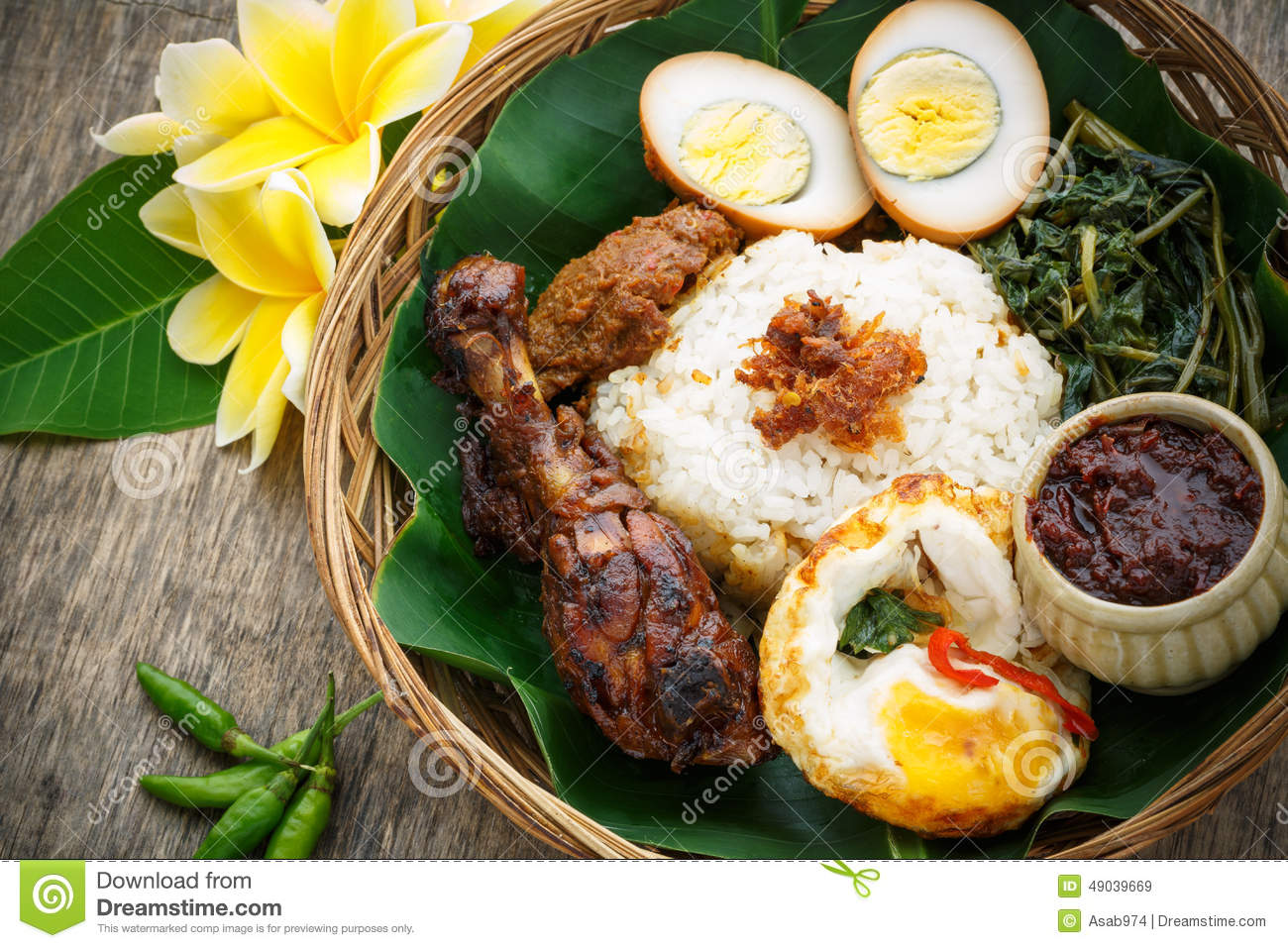 Indonesian food royalty free stock photo cartoondealer for Authentic indonesian cuisine