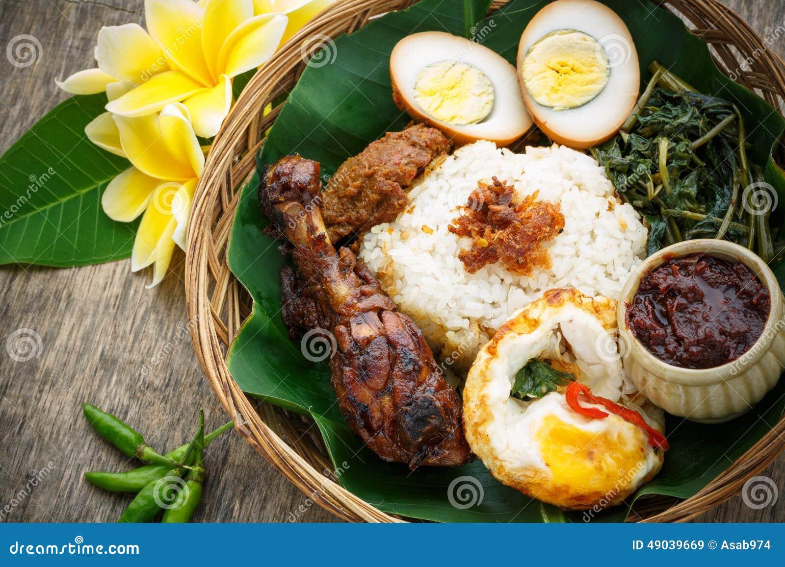 Nasi Campur, Indonezyjski jedzenie