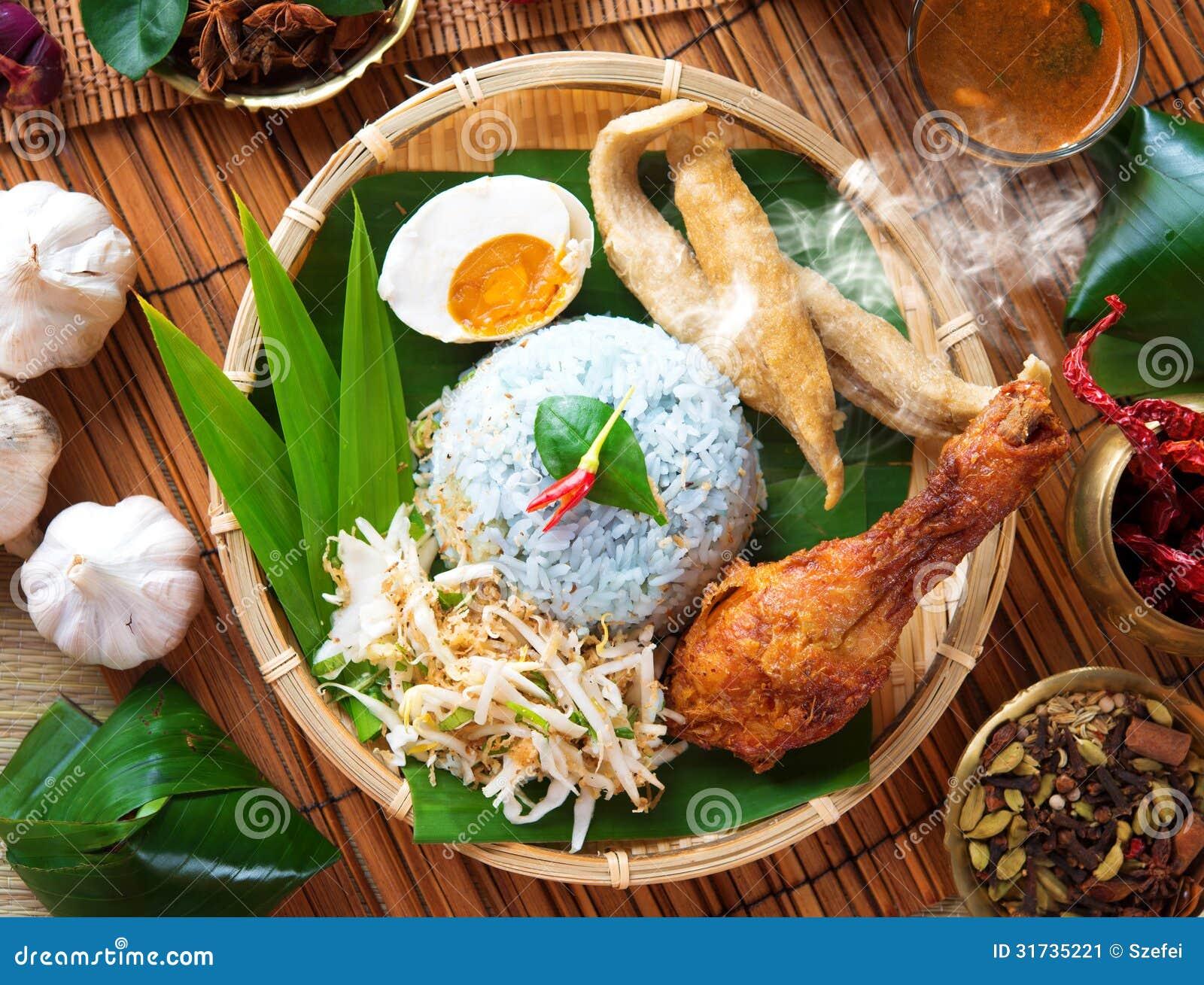 Nasi Kerabu Stock Image - Image: 31735221