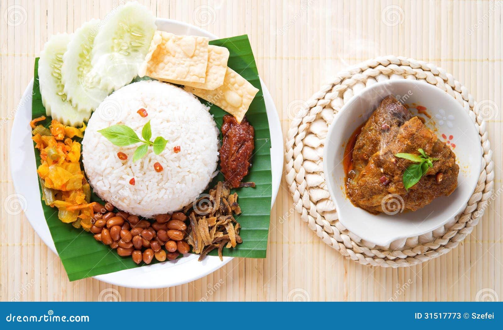 Nasi lemak hot and spicy