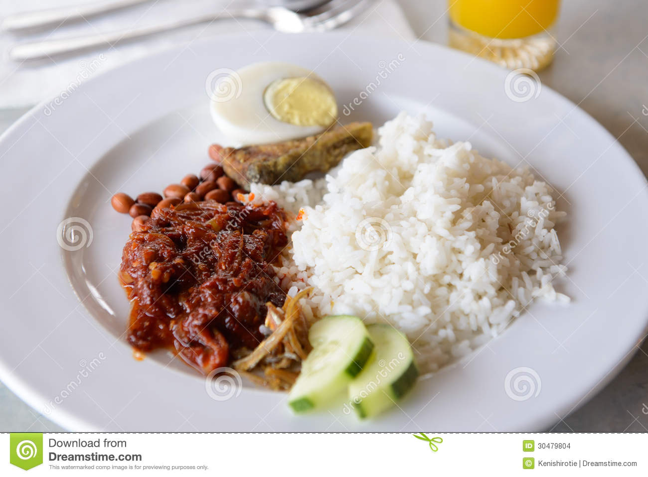 Nasi lemak stock images image 30479804 for Authentic malaysian cuisine