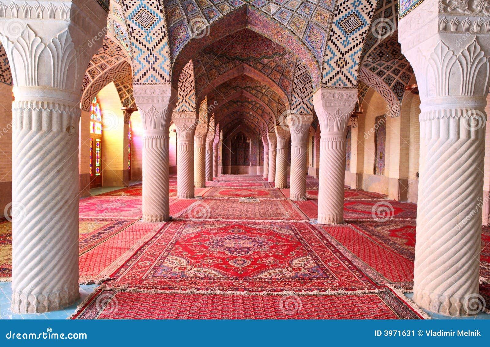 Nasir Al-Mulk Moschee, Shiraz, der Iran