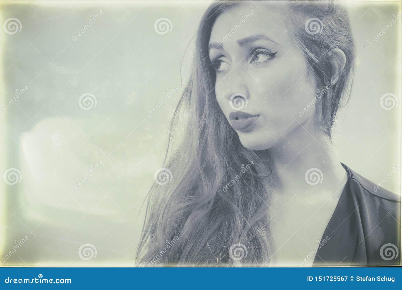 Nass Platten-Porträt einer jungen Frau