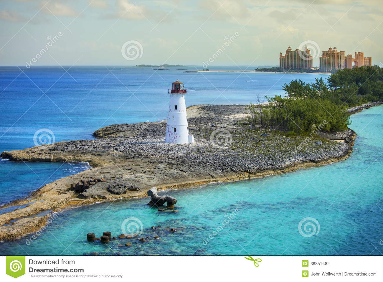 Nassau bahamas and lighthouse