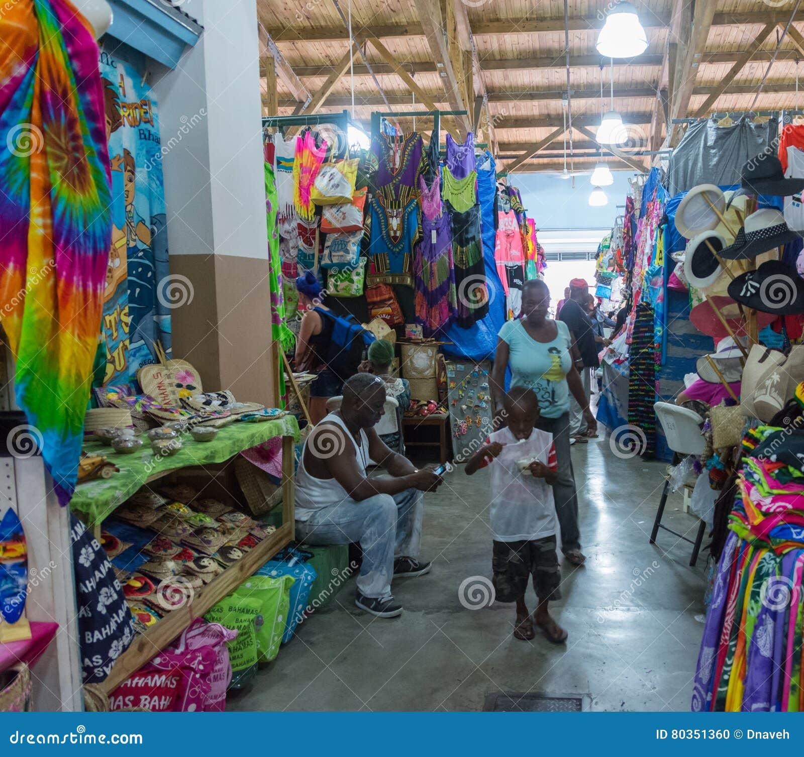 Nassau, de Bahamas Straw Market