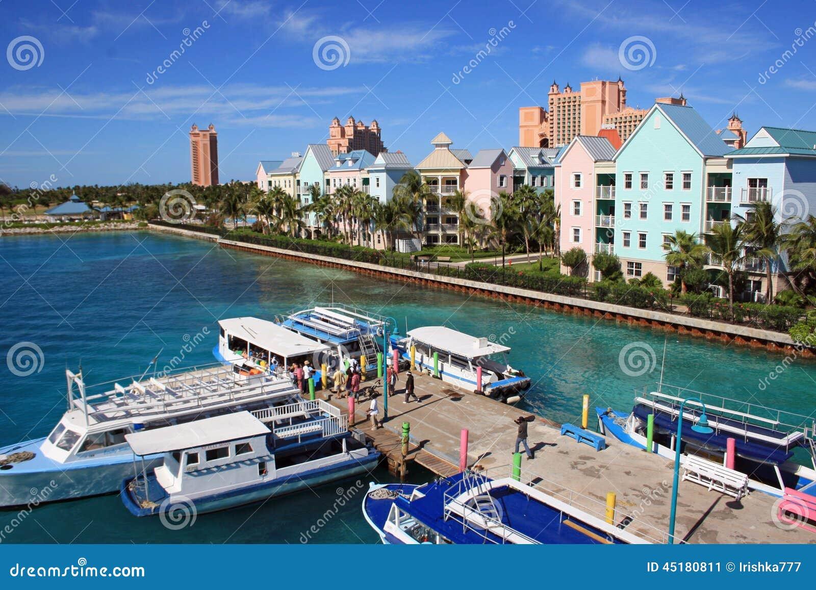 Nassau, de Caraïbische Bahamas,