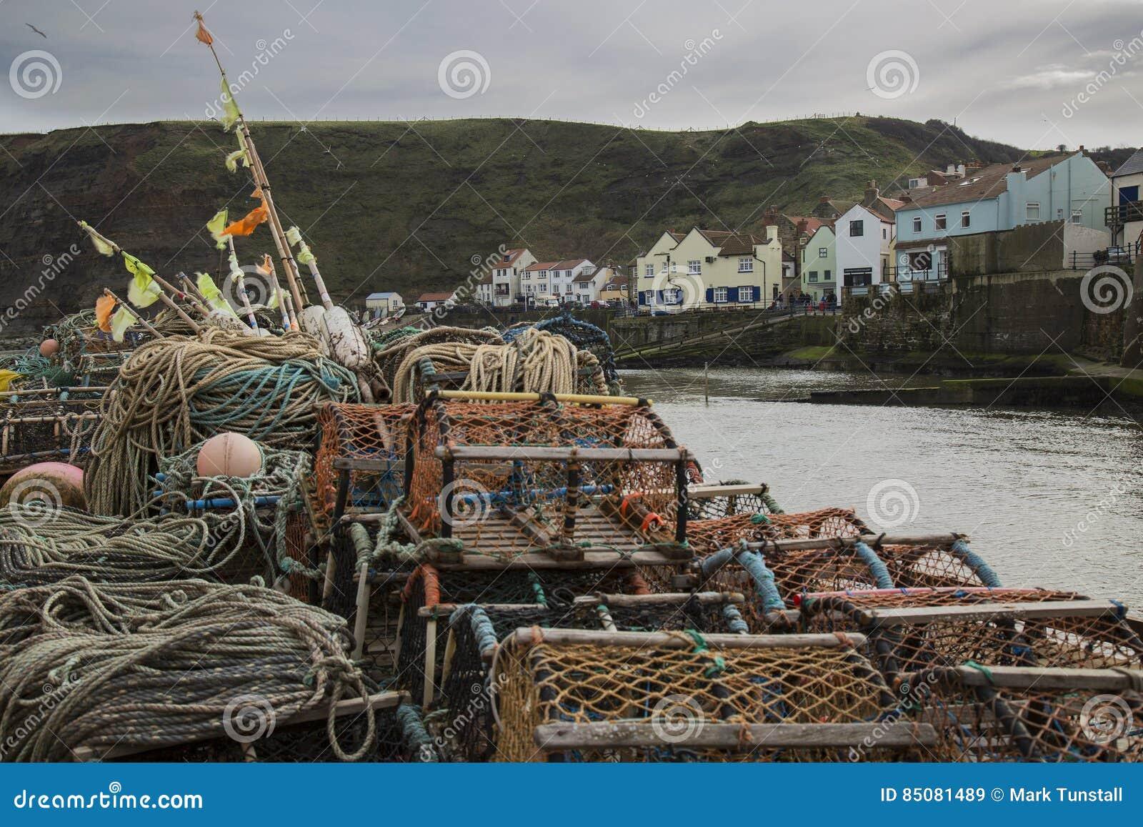 Nasse per crostacei sul porto